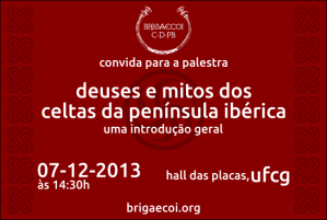Convite para última palestra de 2013